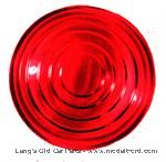 "Model T Oil tail light lens, red glass, 3-11/16""diameter - 6484ARX"
