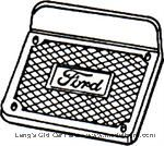 Model T 4812AL - Step plates, polished aluminum, Ford script
