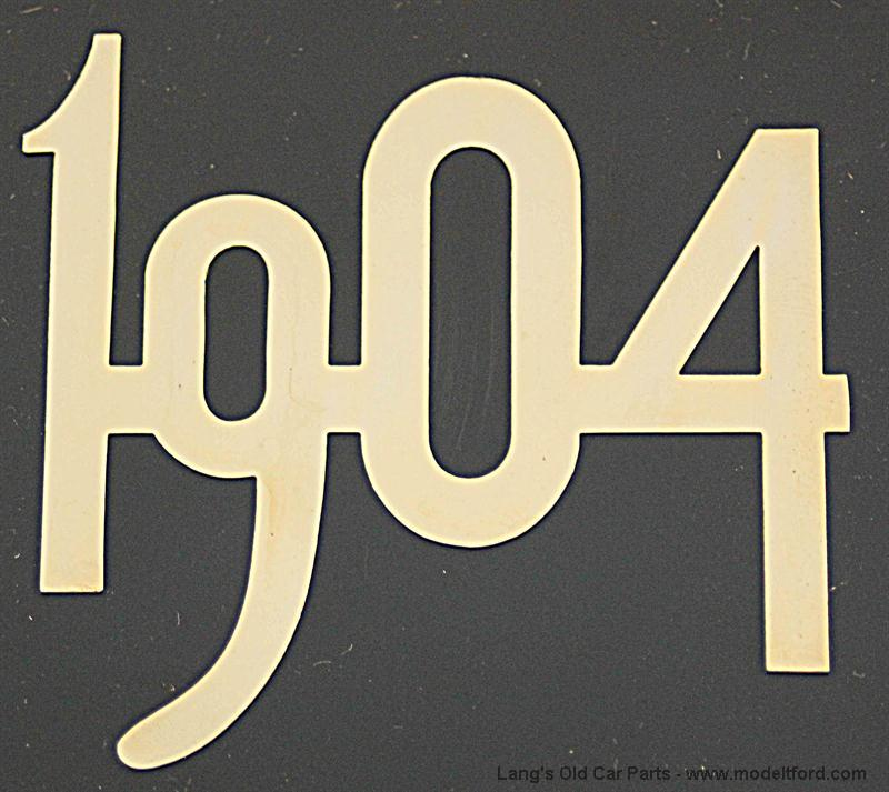 Model T 1904 Gold Plated Steel Number For Radiator 2