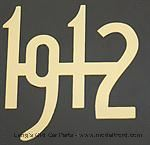 Model T Gold plated brass numbers - 3925-12