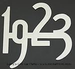 "Model T Chrome plated brass numbers, 2"" high. 1923 - 3925C-23"