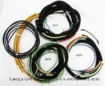 Model T Wiring set, with non-original color spark plug wires. - WS2