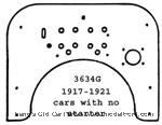 Model T 3634G - Firewall, one piece, for cars without starter, birch plywood