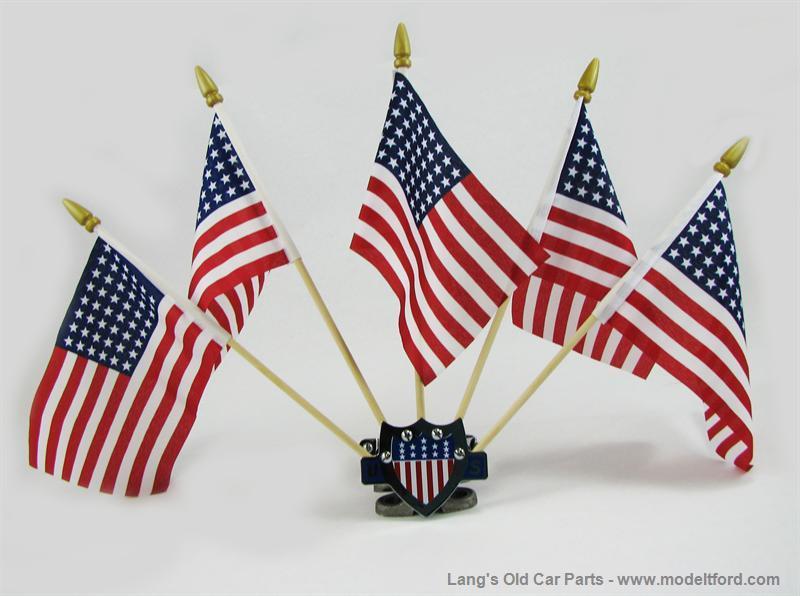 Model T 5 Flag set holder with Red/White/Blue US Shield ...