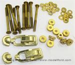 Model T Ford metal coil box hardware kit with brass latches - 4725HS