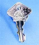 Model T Tie tack, Silver plated brass in the shape of T Key  - A-STT-MFTCI