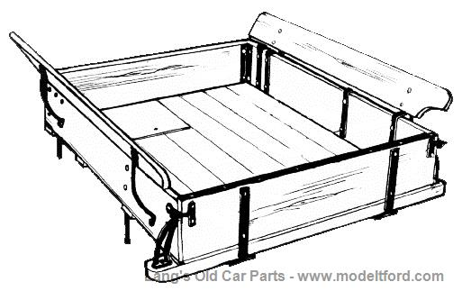 Model T Wooden Pickup Bed Complete With Hardware Pu Bed