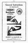 Model T Hassler Shock Absorber General Instructions, - C2A