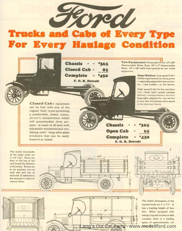 ford model t chassis dimensions