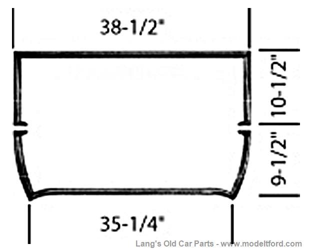 Model T Windshield frame, steel, open car., 78205