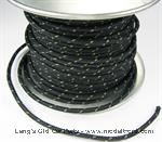 Model T Black wire wiith Green tracer, 14 gauge cloth covered, sold by foot - 5042WBKG