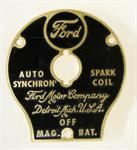 Model T Ford switch plate only for coil box - 4730
