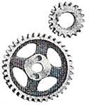 Model T NRS timing gear set, bronze and steel - N438-440