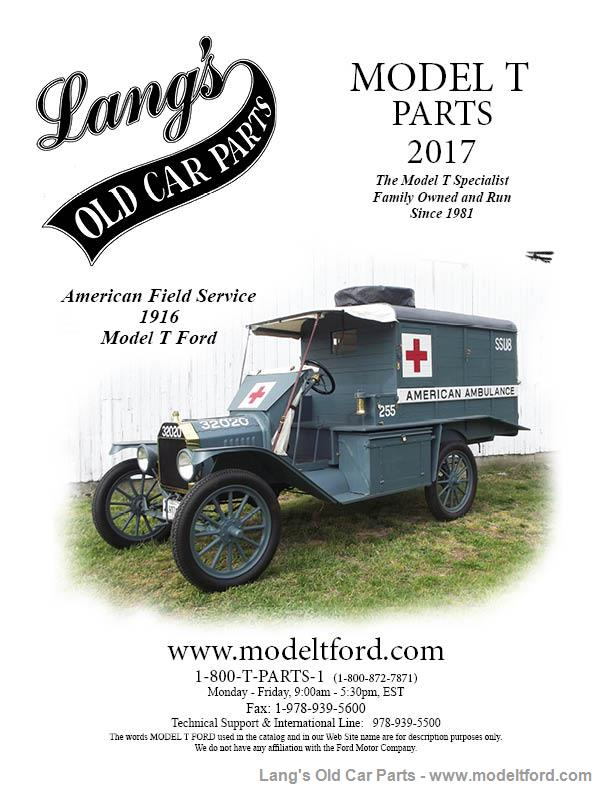 Model T 2017 Lang\'s Old Car Parts Catalog, CATALOG