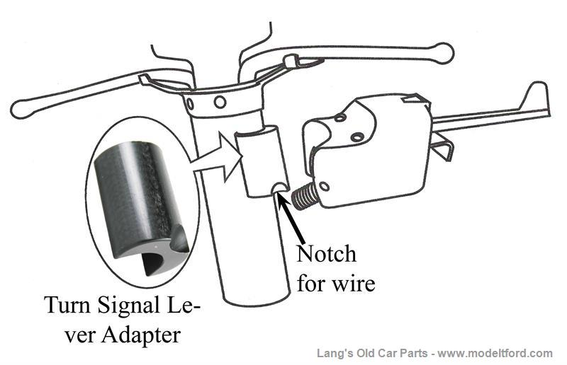 model t turn signal adapter  mounts lever to steering