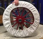 Model T White tire cover, set of 4 - TIRE-COVERSET