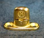 Model T MUR1-BS - Murphy Fastener, thin oval base, single stack, solid brass