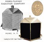 """Model T 3923LV - Brass Livingston """"V"""" radiator"""