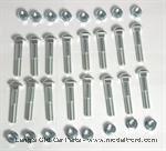 Model T 2848S - Demountable rim bolt & nut set, 32 piece for 4 wheels
