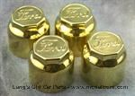 "Model T Hubcaps, Brass, Early Script ""FORD"", raised rim. - 2819-12S"