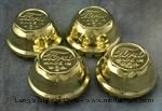 """Model T Wire wheel hubcap set, brass, """"Ford MADE IN U.S.A."""" - 2885B"""
