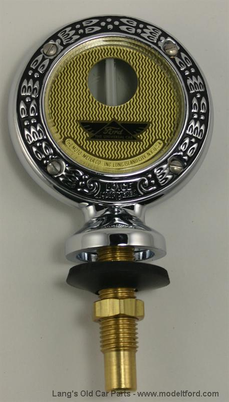 Junior MotoMeter w// FORD Logo Chrome Wreath w// Wings