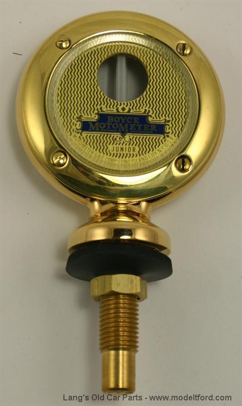 Ford Logo Model T Junior Motometer Brass Plain Rim