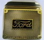 Model T Step plates, solid brass, Ford script - 4812BR
