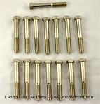 Model T Nickel plated cylinder head bolt set, domed head - 3003CS