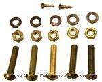 Model T Dash bracket mounting screw and nut set, brass - 3634DBMB