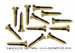 Model T Firewall brass trim mounting screw set, brass, for 2 -piece firewall. - 3634TRA