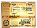 Model T A-LC - Lubrication chart, colored wall poster