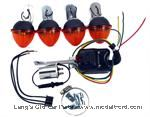 Model T Directional turn signal kit, with lights, 6 volt - T-SIGN-6KIT